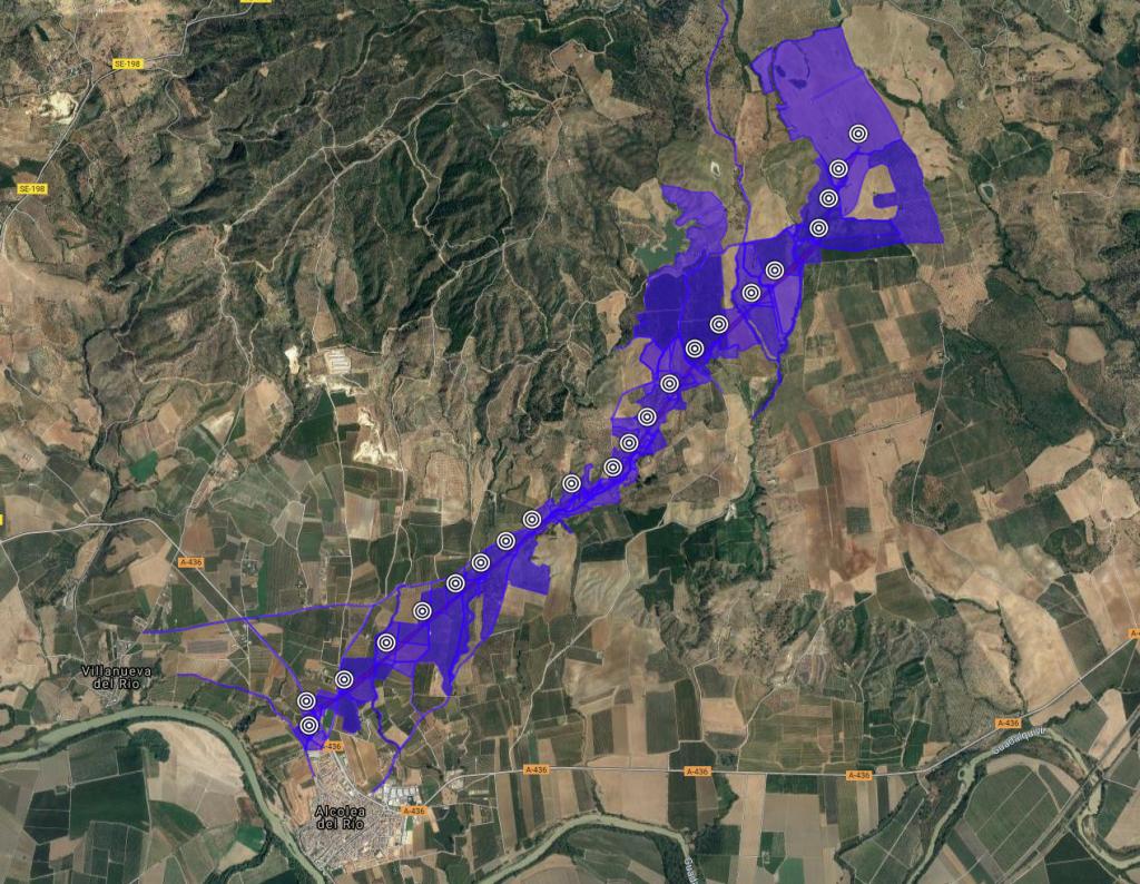 Las Rozas Solar. 7Km de linea hasta conexión con Central de transformación.