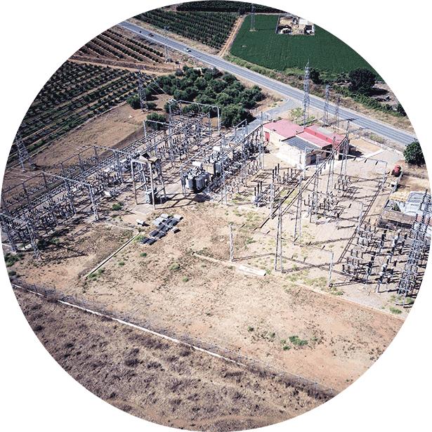 Planificación de inspecciones aéreas con dron para SET y lineas de alta tensión. ©AerialTécnica.