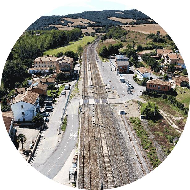 Prospeccion con drone para ingeniería diseño de infraestructuras. Aerial Técnica ©2020