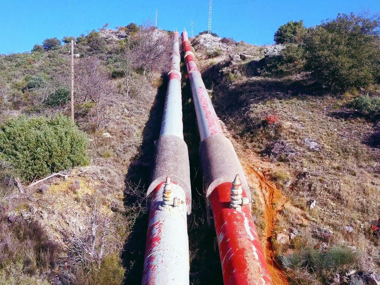 Inspección con RPA en las tuberías de agua del Canal de Isabel II. Madrid ©AerialTécnica 2020