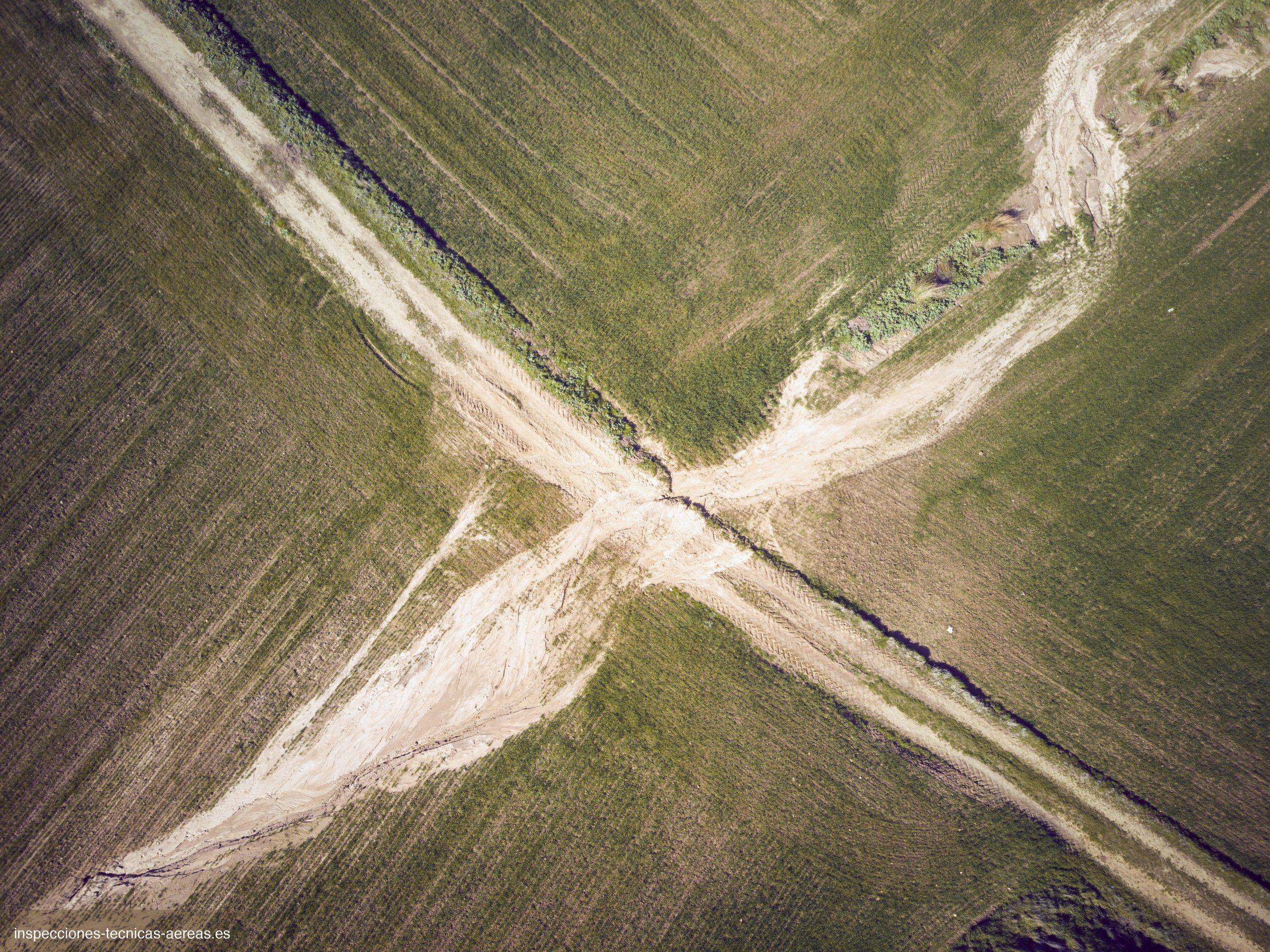 Peritación de daños para agricultura después del paso de la borrasca Filomena. Enero 2021. ©ArialTecnica.