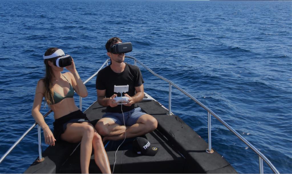 Gafas VR para controlar el QYSEA Fifish PRO V6 PLUS