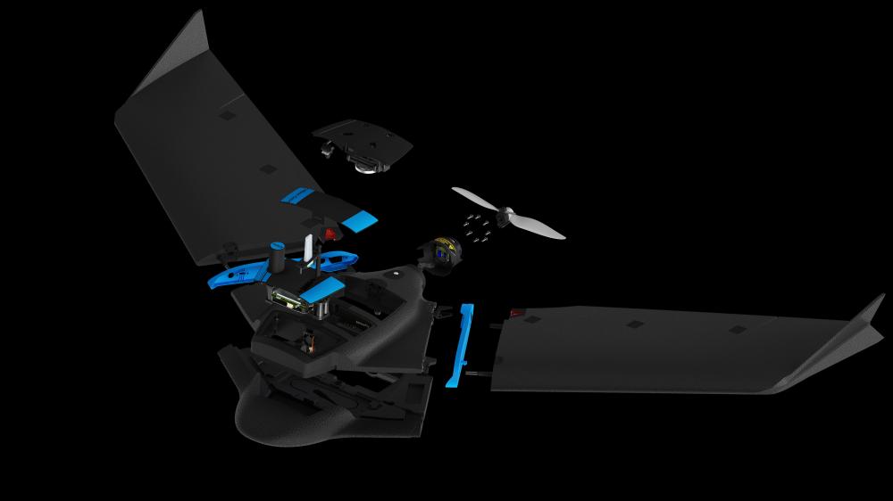 Despiece del UAV SenseFly eBee Geo.