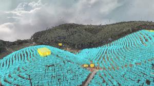 El uso de mapas de agricultura inteligente permite al XAG V40 el reconocimiento de las plantas y árboles de manera individual.