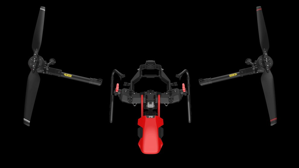 Vista desde arriba del UAV XAG V40