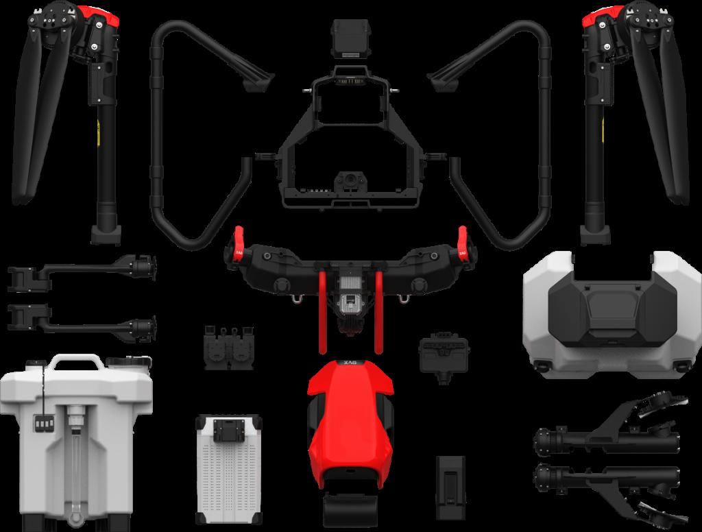 Despiece del dron agricola XAG V40 2021.