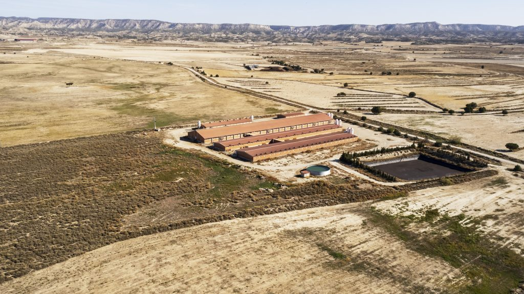 Gallicun 1. Hanwha Energy. Prospección Site Assessment para implantación de PSF 125MWp. Monegrillos, Zaragoza, España © AerialTec 2021.