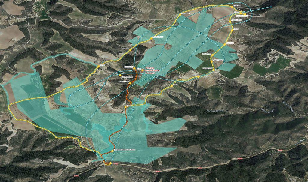Aerial Técnica Survey Map Mequinenza, Zaragoza, Spain.